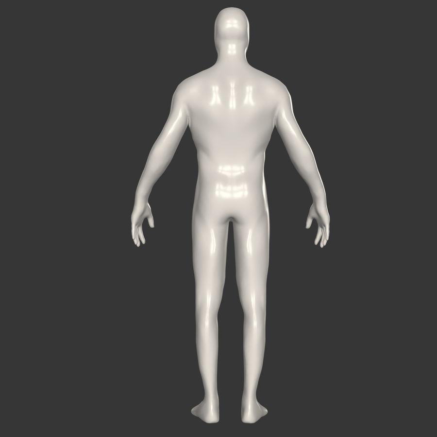 男性ベースメッシュ royalty-free 3d model - Preview no. 8