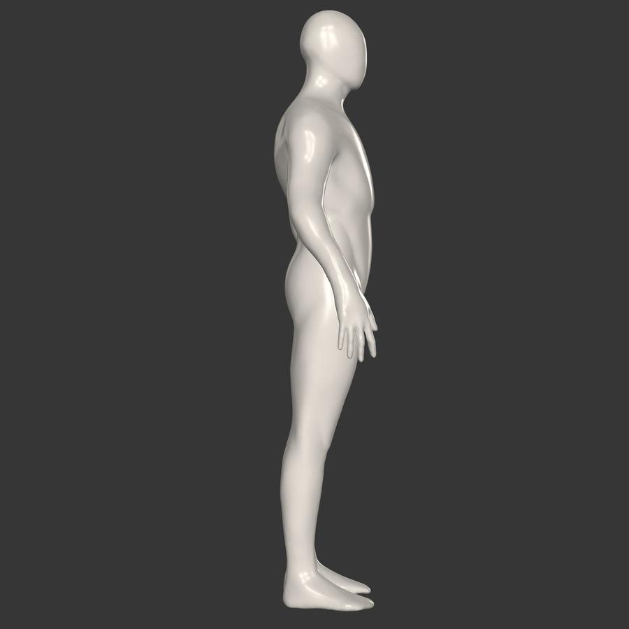 男性ベースメッシュ royalty-free 3d model - Preview no. 7