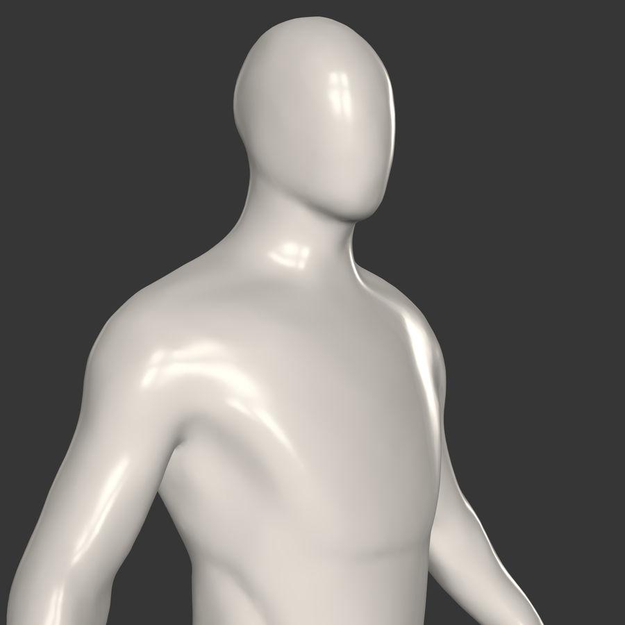 男性ベースメッシュ royalty-free 3d model - Preview no. 4