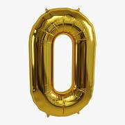 Folienballon Gold 0 3d model