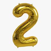 balon foliowy złoty 2 3d model