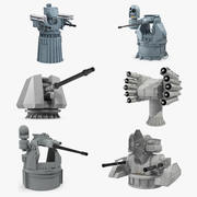 Deck Guns 3D Models Collection 3d model