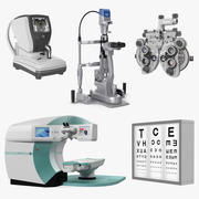 Collection d'instruments de diagnostic et de chirurgie oculaire 2 3d model