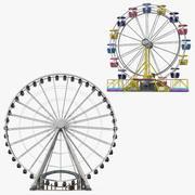 Coleção de modelos 3D de Ferris Wheels 3d model