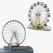 Coleção de modelos 3D Rigged Ferris Wheels 3d model