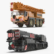 Rigged Mobile Cranes Liebherr Collection 3d model