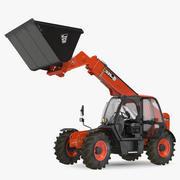 JCB 535 Telehandler Scoop Bucket Dirty Rigged 3d model