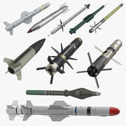 Military Missiles and Rockets 3D Models Collection 3d model