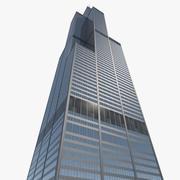 Wolkenkratzerzentrum Willis Tower 3d model