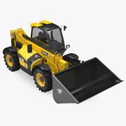 Telehandler Forklift Scoop Bucket JCB 535 3D Model 3d model