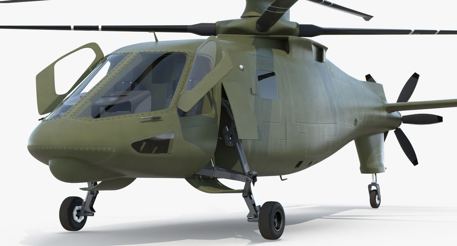 Attack Compound Helicopter Rigged Modèle 3D royalty-free 3d model - Preview no. 14