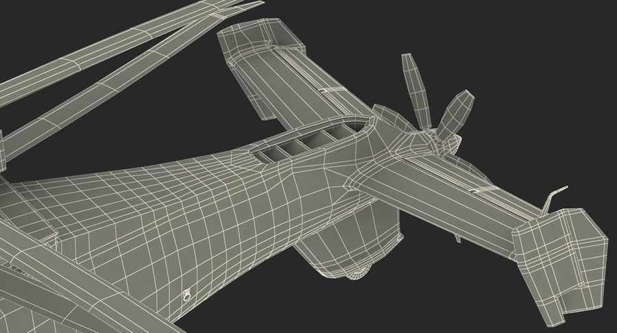 Attack Compound Helicopter Rigged Modèle 3D royalty-free 3d model - Preview no. 31