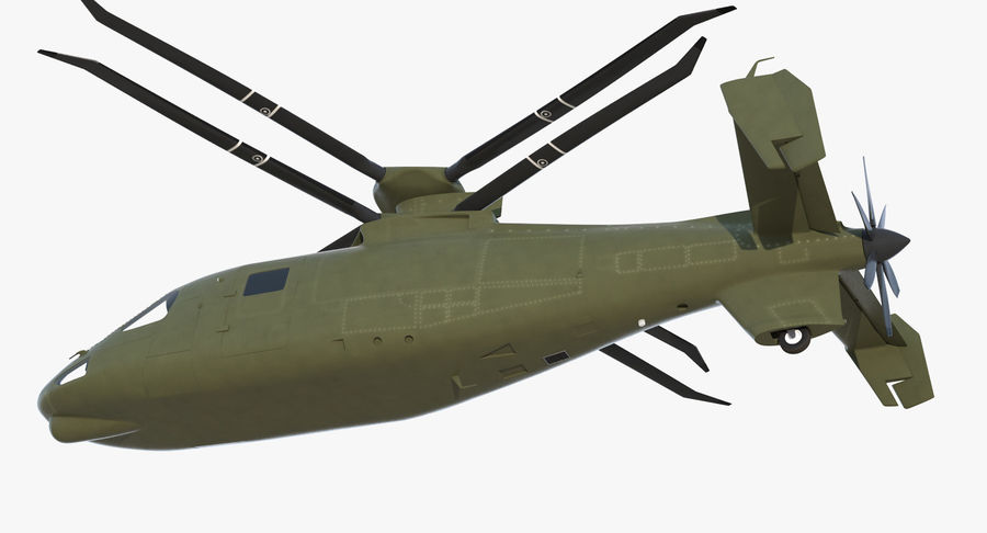 Attack Compound Helicopter Rigged Modèle 3D royalty-free 3d model - Preview no. 13