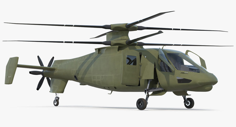 Attack Compound Helicopter Rigged Modèle 3D royalty-free 3d model - Preview no. 8