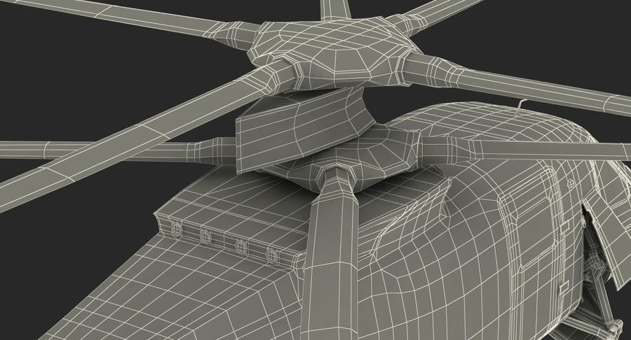 Attack Compound Helicopter Rigged Modèle 3D royalty-free 3d model - Preview no. 30