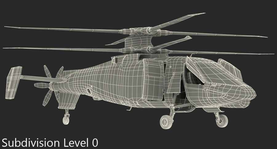 Attack Compound Helicopter Rigged Modèle 3D royalty-free 3d model - Preview no. 20