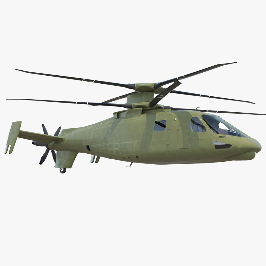 Attack Compound Helicopter Rigged Modèle 3D royalty-free 3d model - Preview no. 1