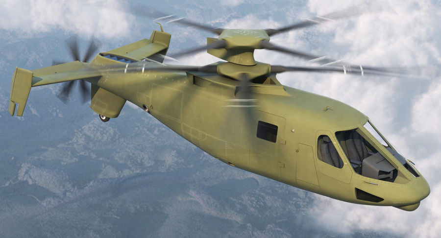 Attack Compound Helicopter Rigged Modèle 3D royalty-free 3d model - Preview no. 3