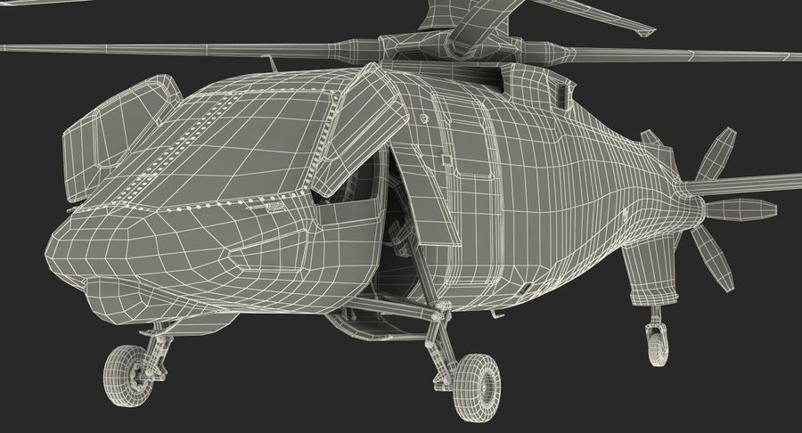 Attack Compound Helicopter Rigged Modèle 3D royalty-free 3d model - Preview no. 27
