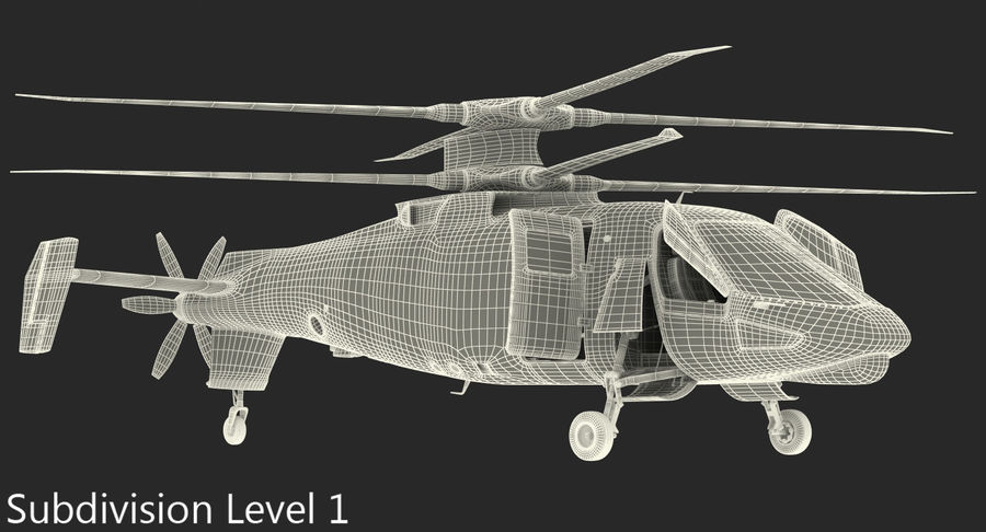 Attack Compound Helicopter Rigged Modèle 3D royalty-free 3d model - Preview no. 21