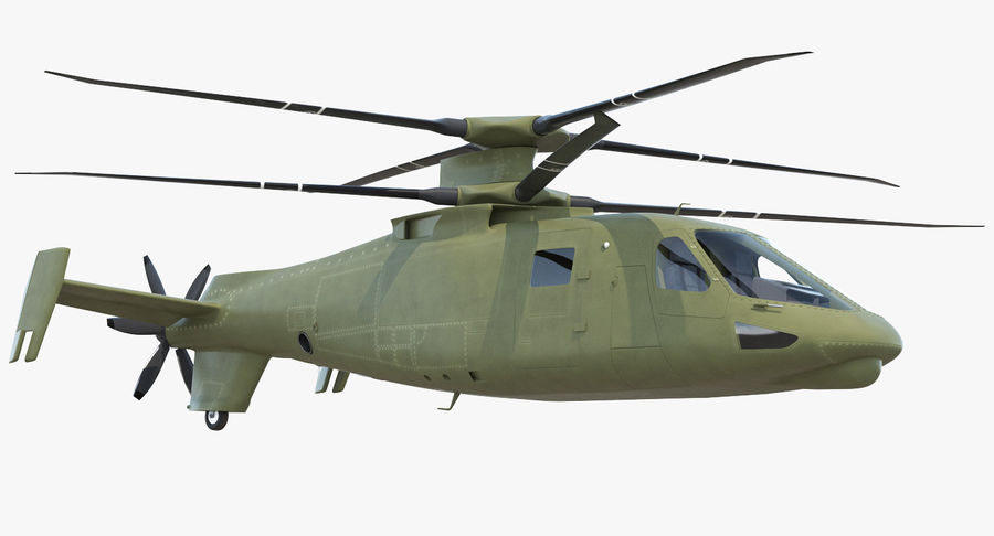 Attack Compound Helicopter Rigged Modèle 3D royalty-free 3d model - Preview no. 2