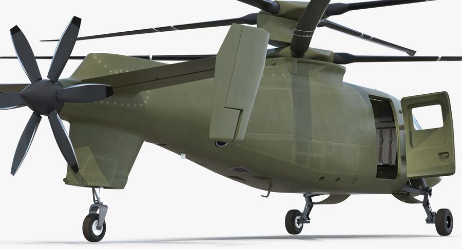 Attack Compound Helicopter Rigged Modèle 3D royalty-free 3d model - Preview no. 15