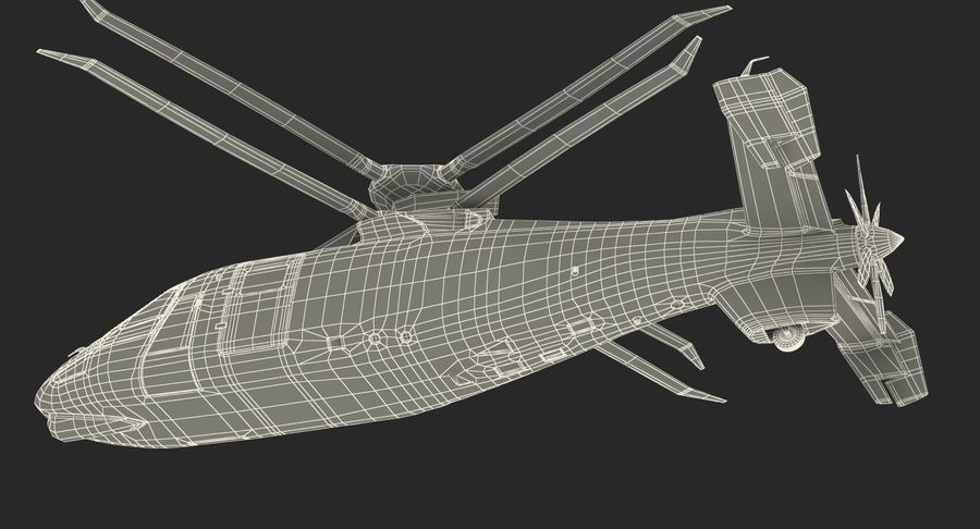 Attack Compound Helicopter Rigged Modèle 3D royalty-free 3d model - Preview no. 26