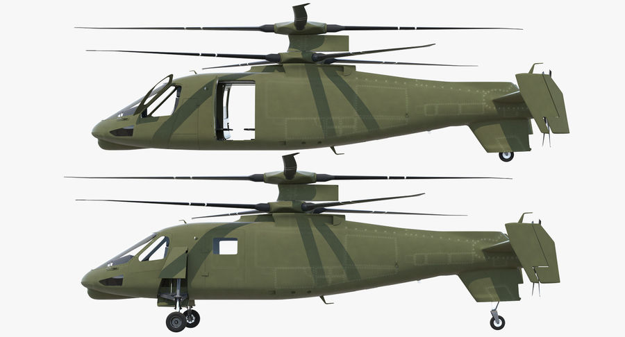 Attack Compound Helicopter Rigged Modèle 3D royalty-free 3d model - Preview no. 11