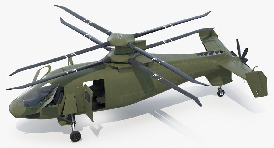 Attack Compound Helicopter Rigged Modèle 3D royalty-free 3d model - Preview no. 9
