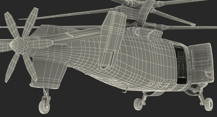 Attack Compound Helicopter Rigged Modèle 3D royalty-free 3d model - Preview no. 28