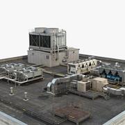 Çatı üstü HVAC sistemi 3d model