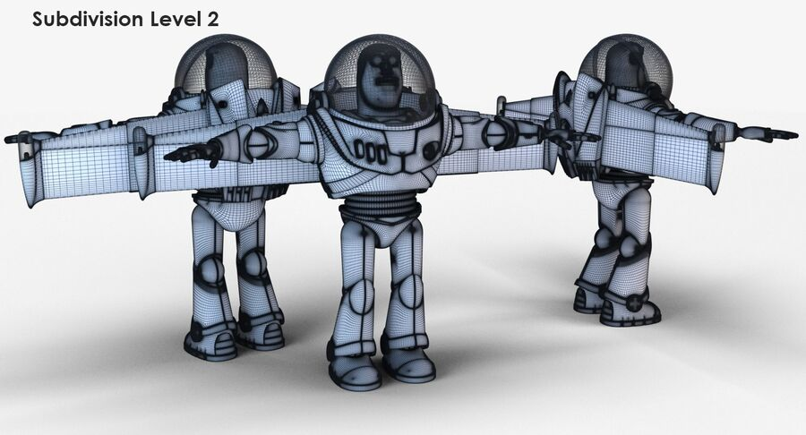 Buzz Lightyear 2019 royalty-free 3d model - Preview no. 26