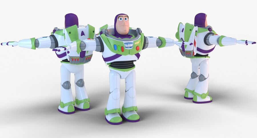 Buzz Lightyear 2019 royalty-free 3d model - Preview no. 6
