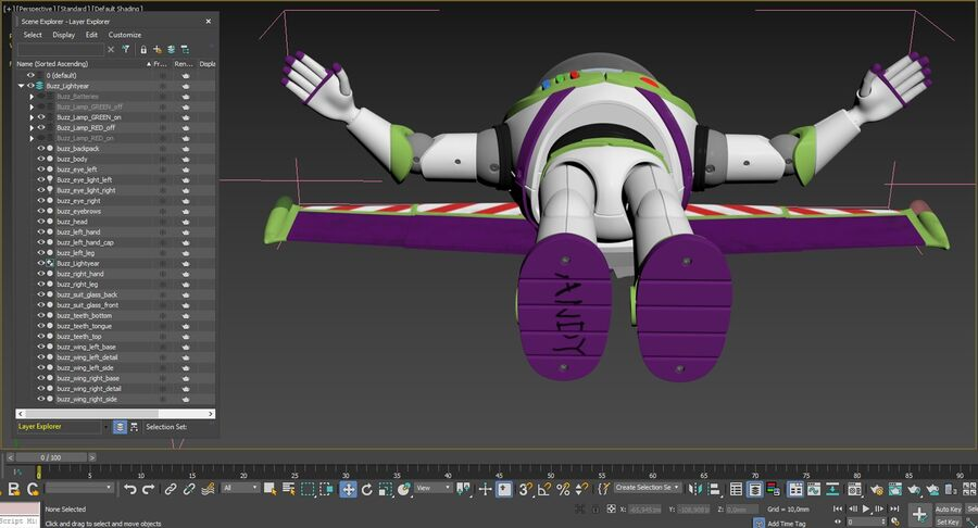 Buzz Lightyear 2019 royalty-free 3d model - Preview no. 53