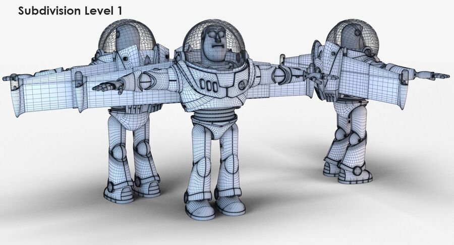 Buzz Lightyear 2019 royalty-free 3d model - Preview no. 25
