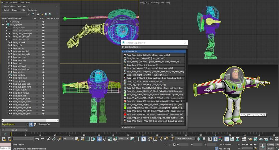 Buzz Lightyear 2019 royalty-free 3d model - Preview no. 50
