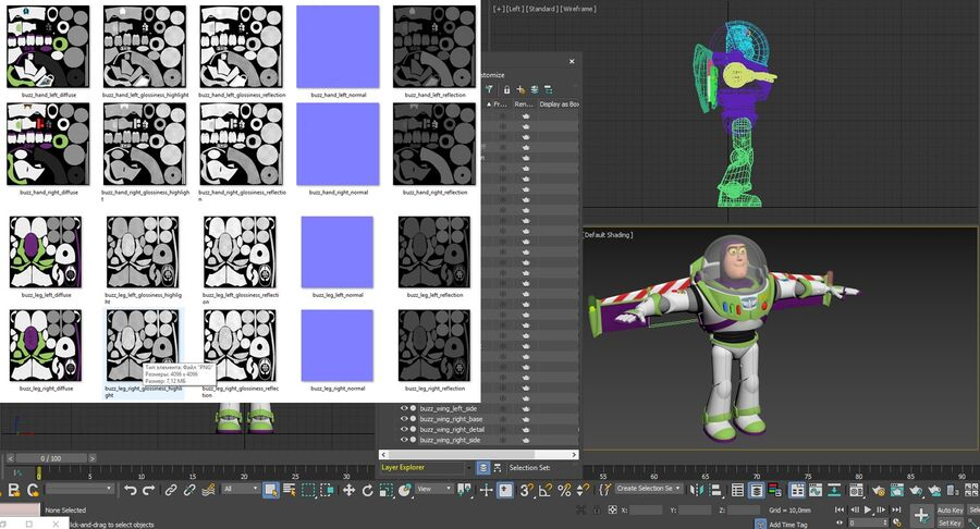 Buzz Lightyear 2019 royalty-free 3d model - Preview no. 54