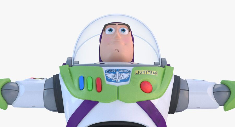 Buzz Lightyear 2019 royalty-free 3d model - Preview no. 23