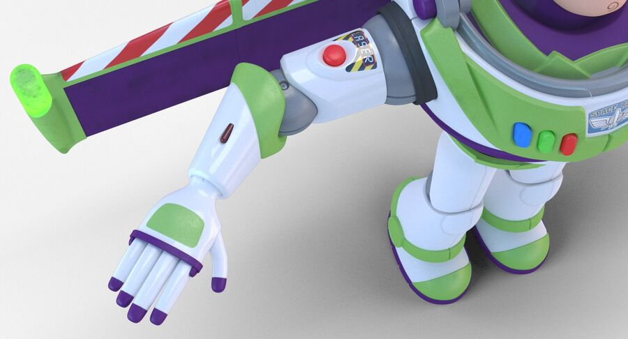 Buzz Lightyear 2019 royalty-free 3d model - Preview no. 13