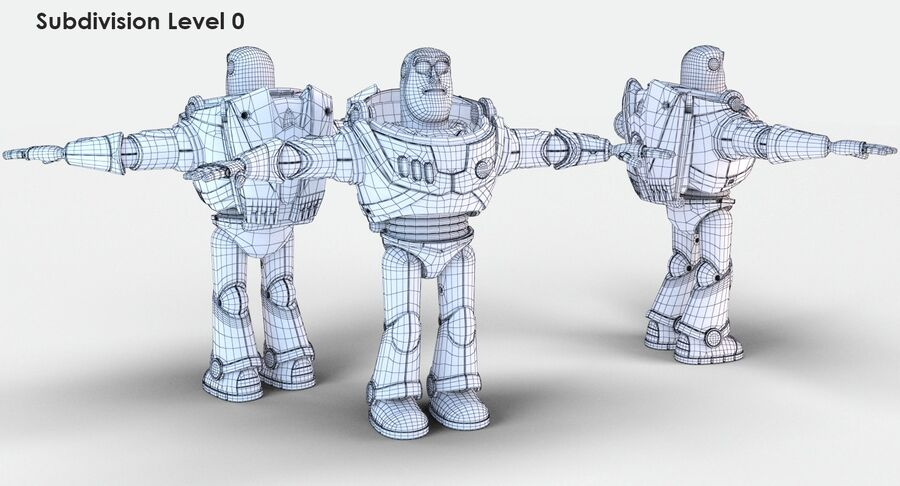 Buzz Lightyear 2019 royalty-free 3d model - Preview no. 27