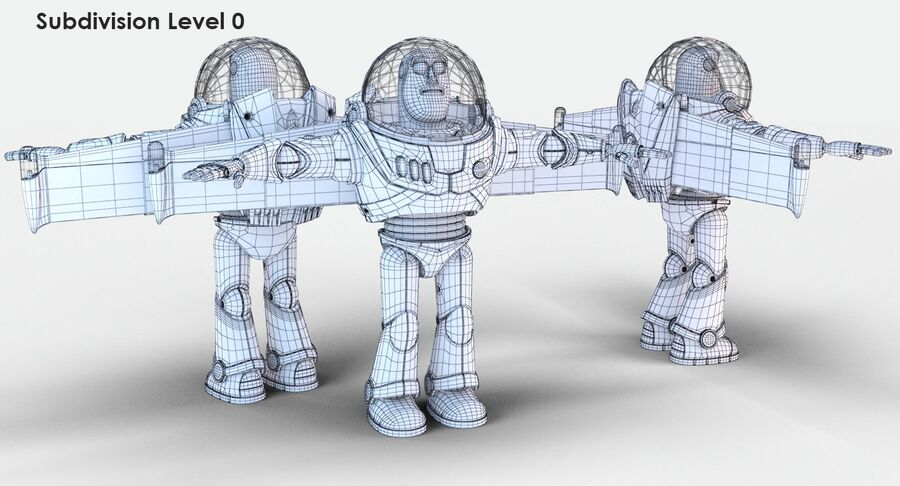 Buzz Lightyear 2019 royalty-free 3d model - Preview no. 24