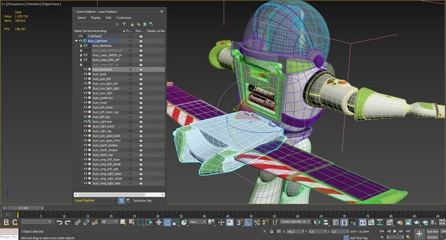 Buzz Lightyear 2019 royalty-free 3d model - Preview no. 52