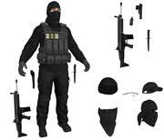 テロリストブラック2019 3d model