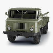 GAZ-66 Truck High Poly 3d model