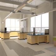 化学実験室のインテリアシーン 3d model