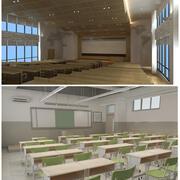 Sammlung von Klassenzimmern 3d model