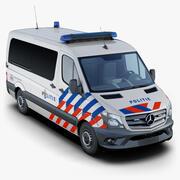 梅赛德斯-奔驰短跑运动员荷兰警察 3d model