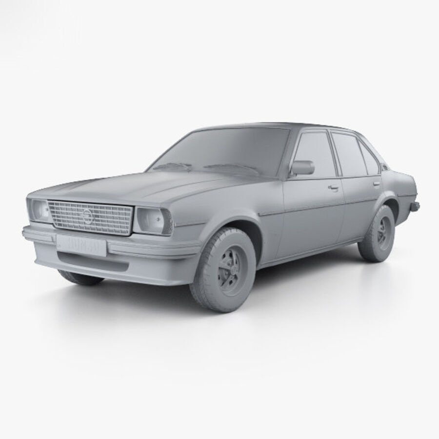 Опель аскона берлина 1975 royalty-free 3d model - Preview no. 11