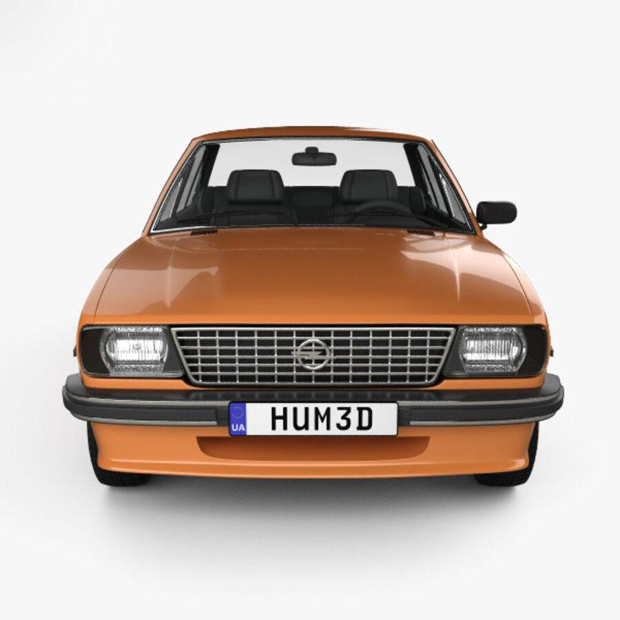 Опель аскона берлина 1975 royalty-free 3d model - Preview no. 10