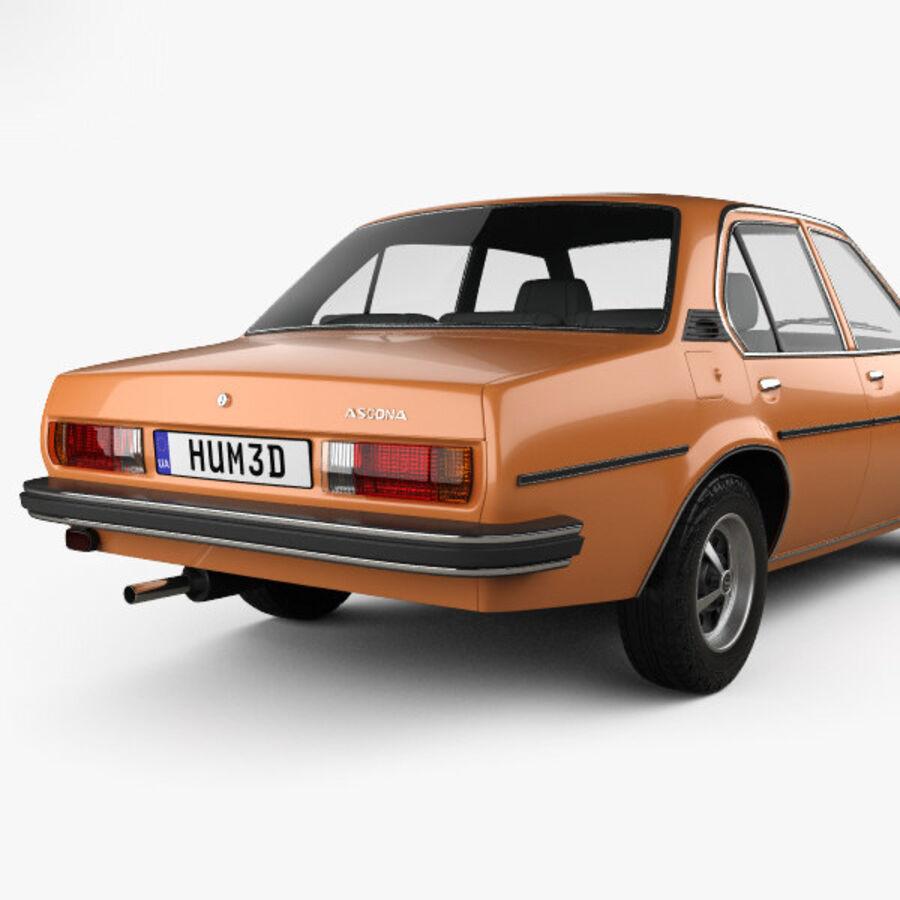 Опель аскона берлина 1975 royalty-free 3d model - Preview no. 7